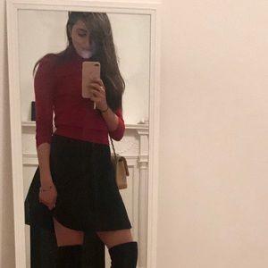 Theory Dark Red Cashmere Sweater